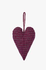 EGO DEKOR Dekorace srdce látkové, 3 x 8 x 16 cm