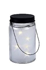 EGO DEKOR Lucernička svítící, stříbrná, teplá bílá LED, 8,5 x 8,5 x 14 cm