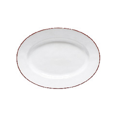 COSTA NOVA Tác 30cm, oválný, BEJA, bílá červená