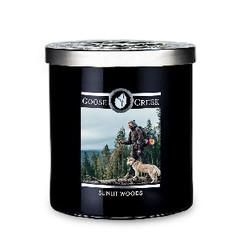 GOOSE CREEK !NOVINKA! Svíčka MEN'S COLLECTION 0,45 KG HONEY & WOODS, aromatická v dóze KP