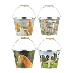 ESSCHERT DESIGN Kyblík s hospodářskými zvířaty, balení obsahuje 4 kusy! (DOPRODEJ)